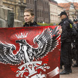 Participants IV Procession Katyn in memory of all murdered in Apr 1940 Royalty Free Stock Photos