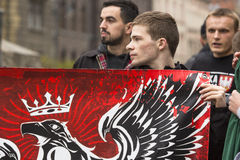 Participants IV Procession Katyn in memory of all murdered in Apr 1940 Stock Image