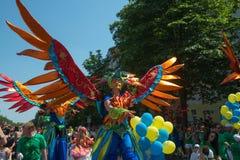 Participants at the Karneval der Kulturen Royalty Free Stock Photos