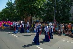 Participants at the Karneval der Kulturen Stock Photo