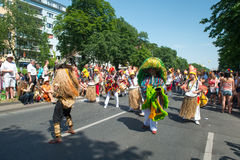 Participants at the Karneval der Kulturen Royalty Free Stock Photo