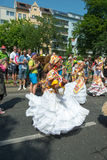 Participants at the Karneval der Kulturen. (Carnival of Cultures), one of the main urban festivals in Berlin stock photography