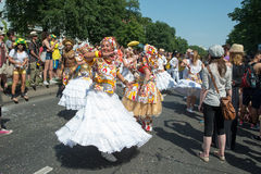 Participants at the Karneval der Kulturen. (Carnival of Cultures), one of the main urban festivals in Berlin royalty free stock images