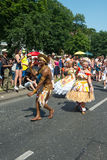Participants at the Karneval der Kulturen. (Carnival of Cultures), one of the main urban festivals in Berlin stock images