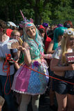 Participants at the Karneval der Kulturen. (Carnival of Cultures), one of the main urban festivals in Berlin stock photo