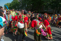 Participants at the Karneval der Kulturen. (Carnival of Cultures), one of the main urban festivals in Berlin royalty free stock photography
