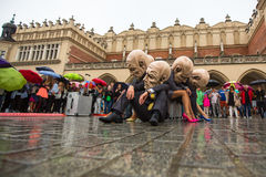 Participants of Krakow Theatre Night festival -KTO Teatre Royalty Free Stock Images