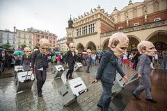 Participants of Krakow Theatre Night festival -KTO Teatre Stock Image