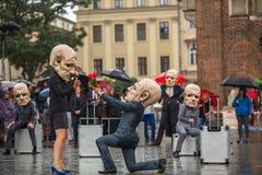 Participants of Krakow Theatre Night festival -KTO Teatre Stock Photography