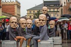 Participants of Krakow Theatre Night festival -KTO Teatre Stock Images