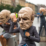 Participants of Krakow Theatre Night festival -KTO Teatre Royalty Free Stock Photography