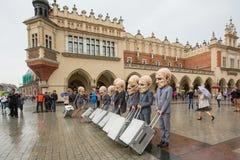 Participants of Krakow Theatre Night festival -KTO Teatre Stock Photos