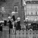Participants of Krakow Theatre Night festival -KTO Teatre Royalty Free Stock Image