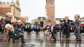 Participants of Krakow Theatre Night festival -KTO Teatre Royalty Free Stock Photo