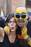 Participants à la fierté homosexuelle 2012 de Bologna Photos libres de droits