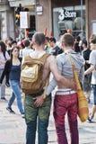 Participants à la fierté homosexuelle 2012 de Bologna Images libres de droits