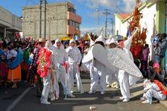 Participants of La Fiesta de la Mama Negra. Latacunga, Ecuador 30 September, 2012: Unidentified Participants of la Fiesta de la Mama Negra traditional festival Royalty Free Stock Images