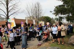 Participants at the Lag B'Omer Parade Stock Photos