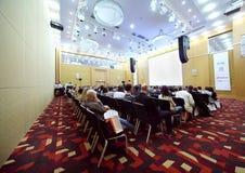 Participants listen performance Royalty Free Stock Photo
