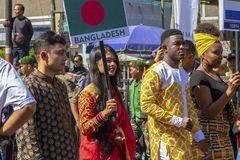 The participants from many different countries in Asia Africa Festival 2019.  stock photo
