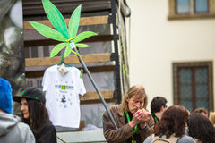 Participants of the March For Cannabis Liberation. Stock Image