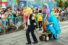 Participants march in the 35th Annual Mermaid Parade at Coney Island Royalty Free Stock Photos