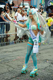 Participants march in the 35th Annual Mermaid Parade at Coney Island Royalty Free Stock Photography