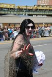 Participants march in the 34th Annual Mermaid Parade Stock Images