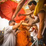 Participants of Master Day Ceremony at able Khong Khuen - spirit possession during the Wai Kroo ritual at Bang Pra monastery Stock Photography
