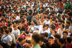 Participants of Master Day Ceremony at able Khong Khuen Royalty Free Stock Images