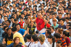 Participants of Master Day Ceremony at able Khong Khuen Royalty Free Stock Photography