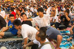 Participants of Master Day Ceremony at able Khong Khuen Stock Images