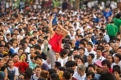 Participants of Master Day Ceremony at able Khong Khuen Stock Photo