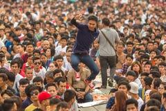 Participants of Master Day Ceremony at able Khong Khuen Stock Image