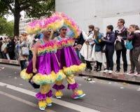 Participants minutieusement habillés, pendant le Christopher Street Day Image libre de droits