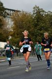 Participants of 6 Moscow Marathon royalty free stock image
