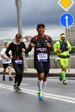 Participants of 6 Moscow Marathon royalty free stock images
