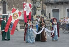 Medieval procession Royalty Free Stock Images