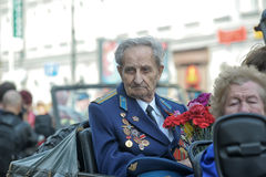 Participants in the parade of victory in Great Patriotic War Stock Photography