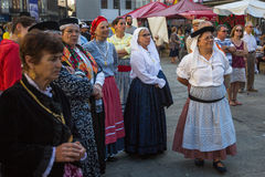 Participants of the Porto folklore festival Festival de Folclore do Orfeao do Porto. PORTO, PORTUGAL - JUL 15, 2017: Participants of the Porto folklore festival Royalty Free Stock Image