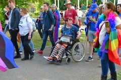 Participants of the Reading Pride Parade 2019