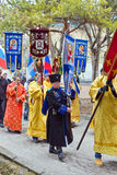 Participants of religious procession. Stock Photography