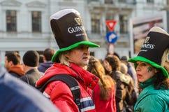 Participants at Saint Patrick parade Royalty Free Stock Photos