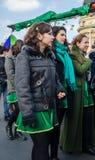 Participants at Saint Patrick parade Royalty Free Stock Images