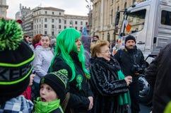 Participants at Saint Patrick parade Stock Photos