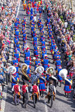 Participants of the Sechselauten parade in Zurich Royalty Free Stock Photos