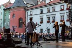 Participants of start celebrating the Kupala Night in Krakow Stock Photography