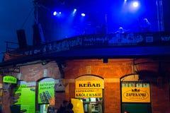 Participants of start celebrating the Kupala Night in Krakow Stock Images
