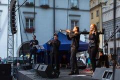 Participants of start celebrating the Kupala Night in Krakow Stock Photo