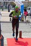 Participants in the Swimrun Costabrava competition in in a small town Playa de Aro in Spain Royalty Free Stock Photo